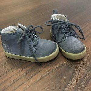 Grey Suede Toddle Boots